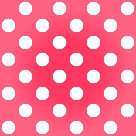 Polka dots red white faded background photo