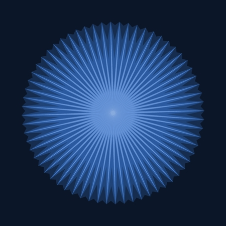 annular: Abstract ring centered blue star shaped background