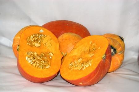 halved: Halved pumpkin