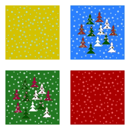 christmas backgrounds: Christmas tileable backgrounds set Illustration