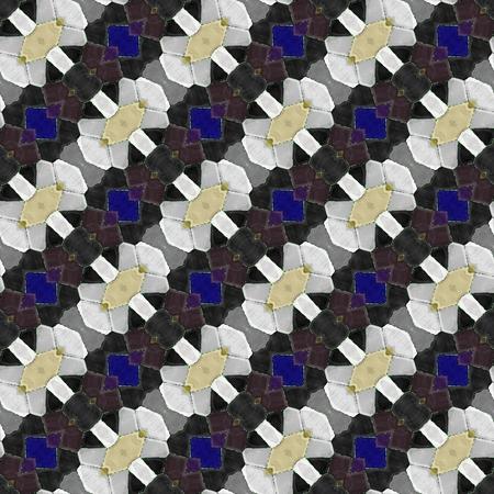 regular: Abstract tileable seamless regular ornamental mosaic pattern Stock Photo