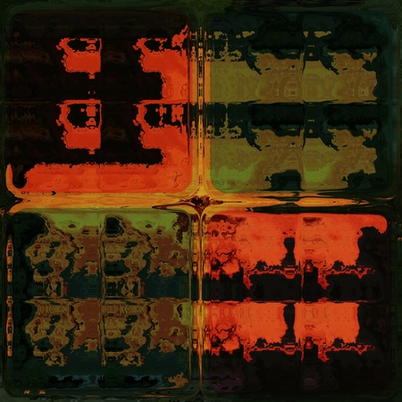 lucidity: Orange and green shining through glass bricks