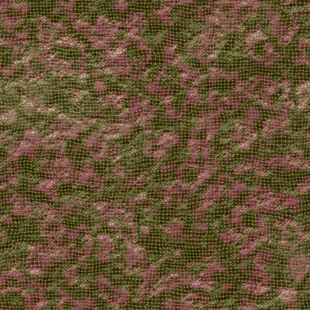 leatherette: Green and pink leatherette