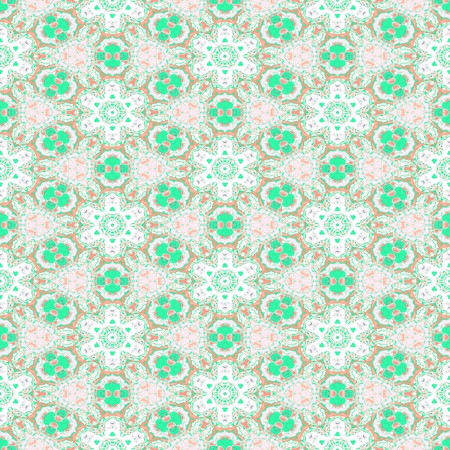 ufology: Abstract floral white green pattern Stock Photo