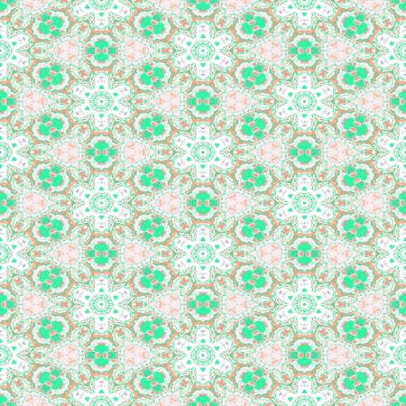 ufology: Astratto motivo floreale verde bianco