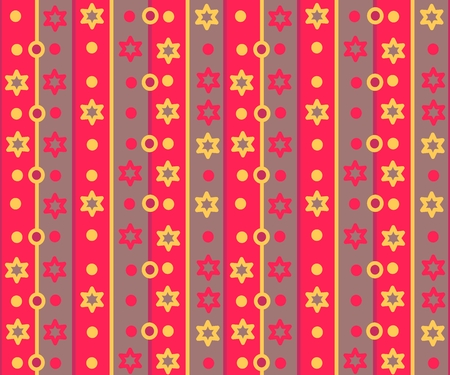 yellowish: Simple retro striped pattern with stars and circles