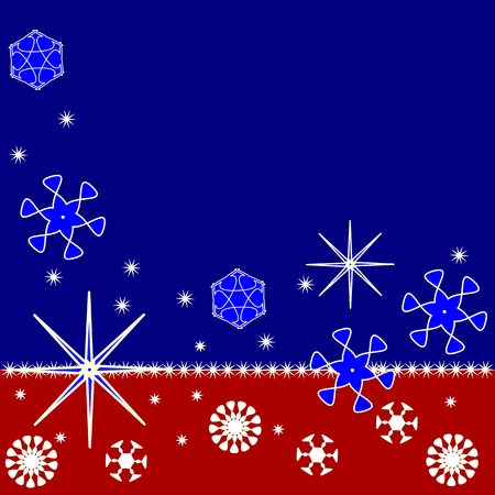 Tri-color Christmas background Vector