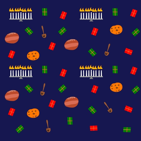 hanukka: Colorful seamless decorative festive background Illustration