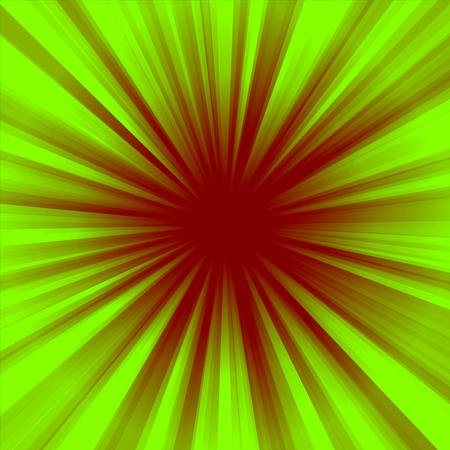 The two-color radial concentric brown-green background