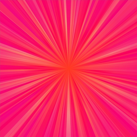 regular: Red regular rays centralized background Stock Photo