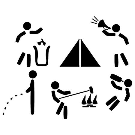 incartade: Set ic�nes de r�gles de camping