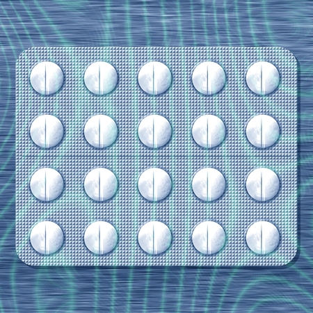 soothing: White pills in soothing blue light reminiscent of the slow flow of water