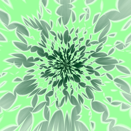 flare up: Abstract centralized greenish background with radiant four-pointed stars