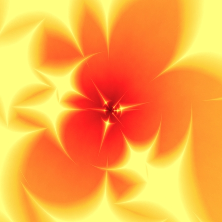 transcendence: Abstract blurred yellow orange fractal background
