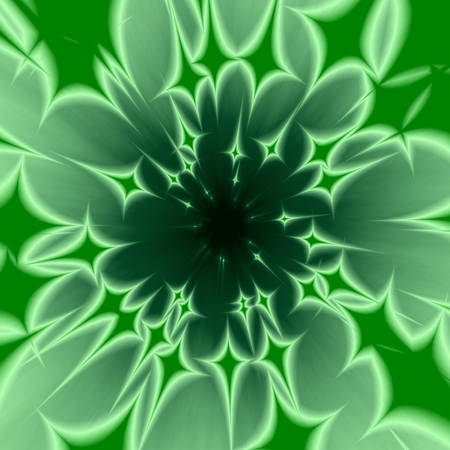 inconclusive: Abstract centralized green background with radiant four-pointed stars