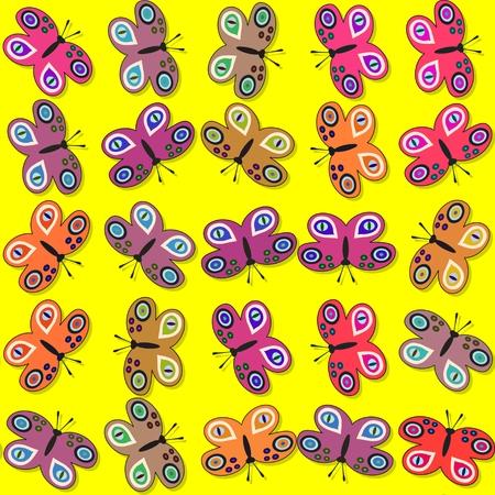 Seamless decorative butterflies pattern photo