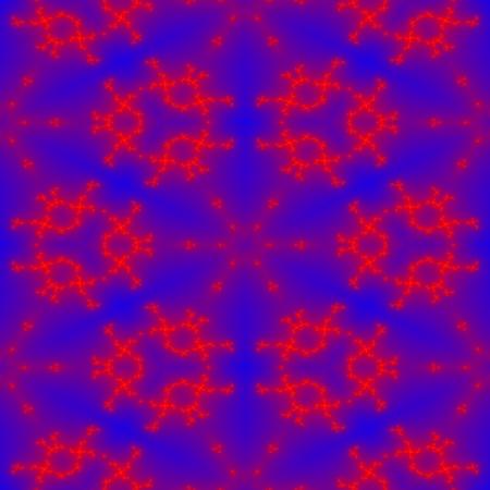 Seamless blue red fractal regular pattern photo