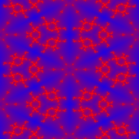 regular: Seamless blue red fractal regular pattern Stock Photo