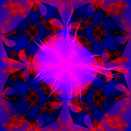 Pink blue red fractal psychedelic background Stock Photo