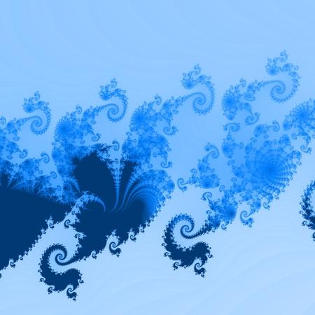 tonality: Simple blue ornamental toneable fractal background Stock Photo