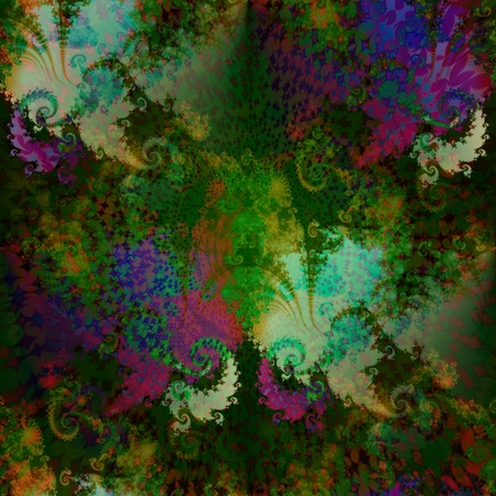 subconsciousness: Abstract fantasy soft fractal psychedelic background