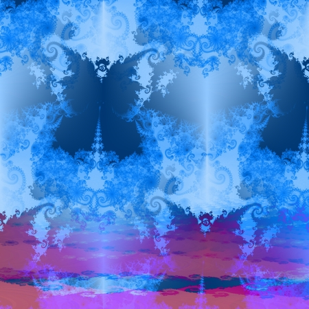 esotericism: Fantasy decorative fractal butterfly background