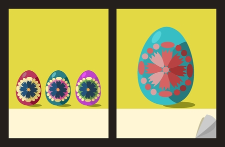 pocket book: Notepad cover templates with easter eggs