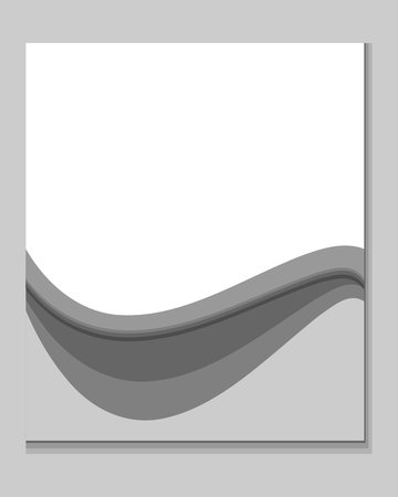 scratch pad: Abstract vertically gray background with shadows and waves