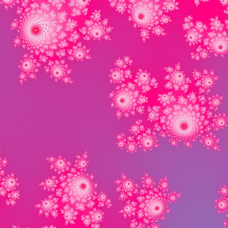 Pink fractal decorative pattern with cute rosebud shapes - computer generated graphic photo