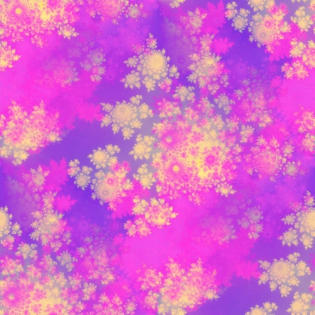 Fractal rosebuds seamless pattern on purple background - computer generated graphic photo
