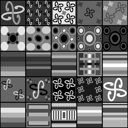 austere: Collection of black white gray tiles