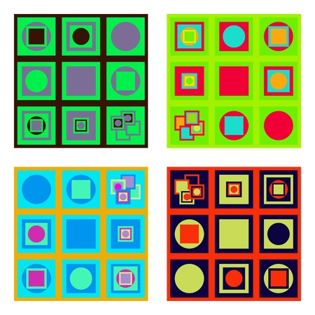 yellowish: Set of colorful tiles