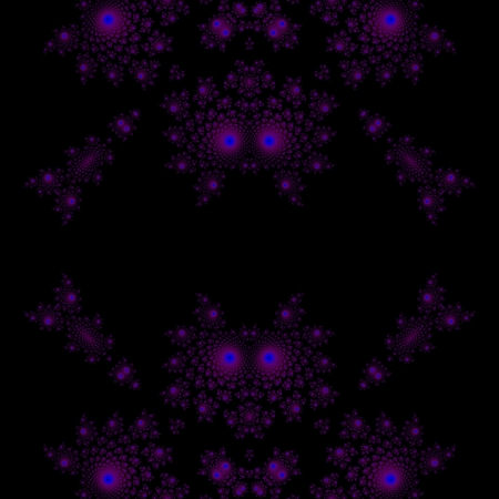 reminiscent: Seamless fractal pattern reminiscent of devil