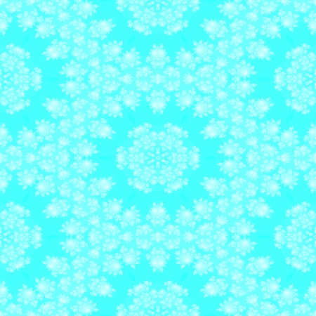 hoarfrost: Abstract seamless christmas snowflakes blue white background Stock Photo