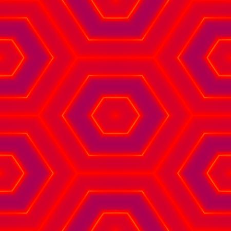spunky: Abstract red purple hexagonal seamless pattern Stock Photo