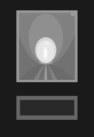obscure: Resumen de antecedentes de formas simples blanco gris negro haciendo ilusi�n �ptica - con lugar libre para el texto