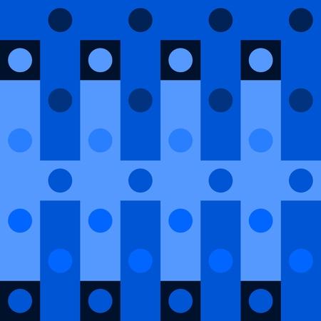 Abstract blue polka dot op art background