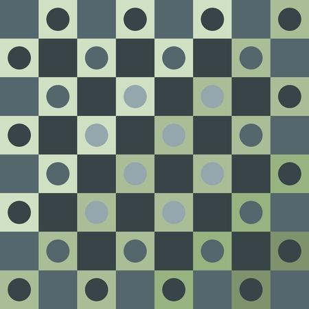 smoky: Abstract smoky green polka dot op art background
