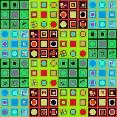 op 아트 스타일의 추상 다채로운 변수 패턴