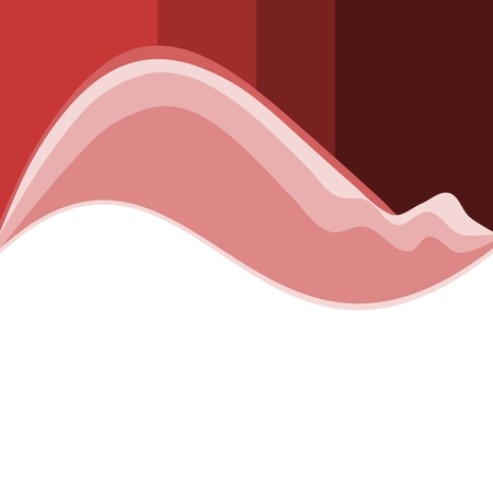 Abstract red white wavy background Vector