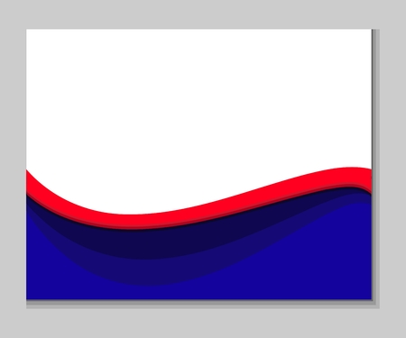 Red blue white abstract wavy background Stock Illustratie