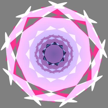 irregular: Abstract decorative round irregular shape Stock Photo