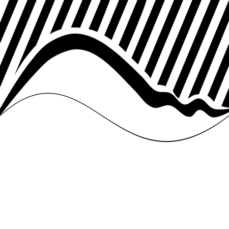 Decorative wavy background with narrow oblique stripes Vector