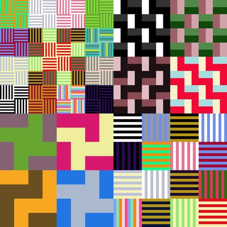 tileable: Abstract colorful geometrical chequered tileable pattern Illustration