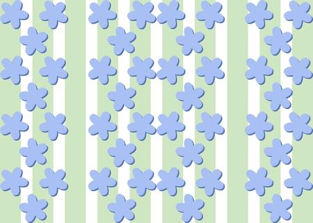 bluish: Seamless decorative flax flower bluish pattern