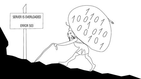 collisions: Server overloaded - error 503 Illustration