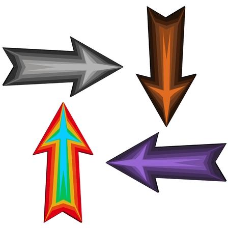 ashy: Straight darts - gray, brown, purple and rainbow