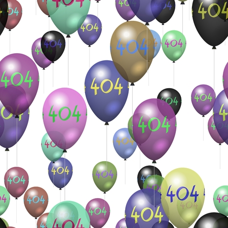 tile able: Tile able party air balloons pattern with number 404