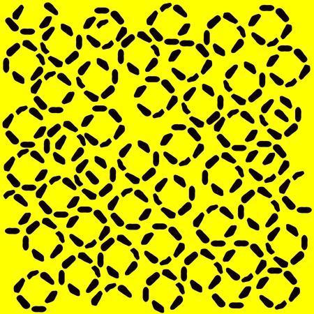 resembling: black and yellow pattern resembling a jaguar spots
