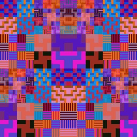 tonality: Purple geometric abstract pattern